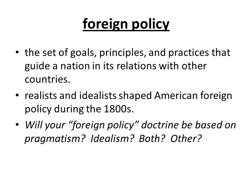 role of national interest in foreign policy pdf