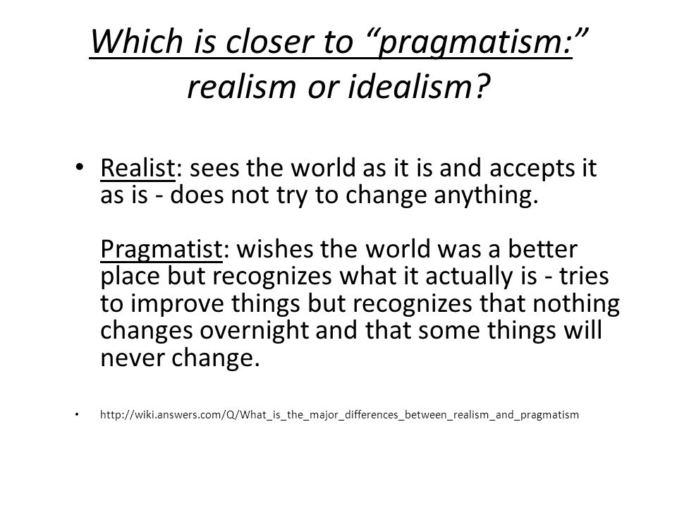 American foreign policy: Doctrine of realism vs. idealism
