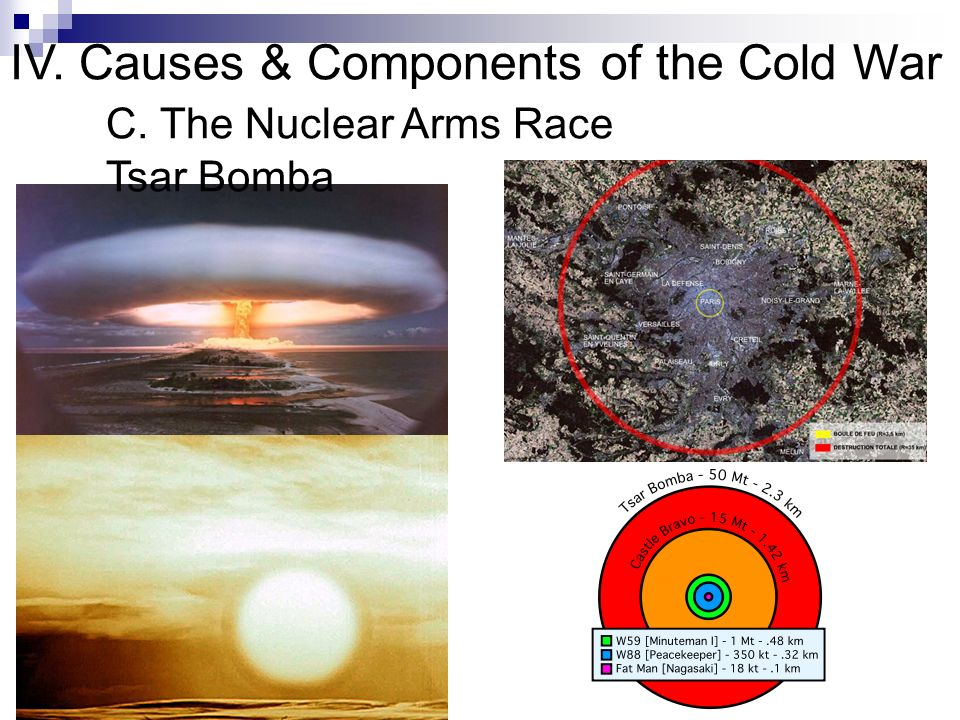 IV. Causes & Components of the Cold War. C. The Nuclear Arms Race