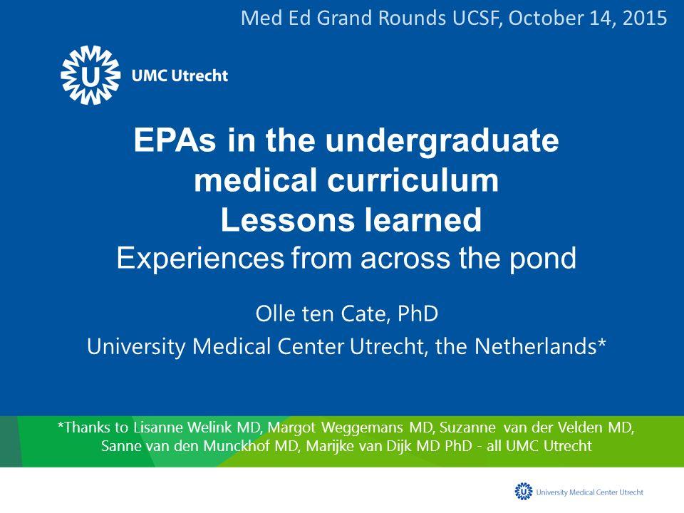 University Medical Center Utrecht, the Netherlands*