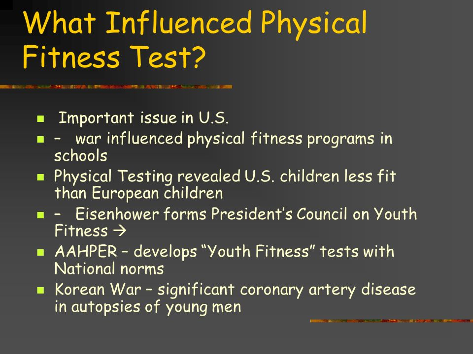 the presidents challenge youth physical fitness program essay The article established four points as the basis of his proposed program, including a white house committee on health and fitness direct oversight by the department of health, education, and welfare an annual youth fitness congress to be attended by state governors and the assertion that physical fitness was very much the business of the .