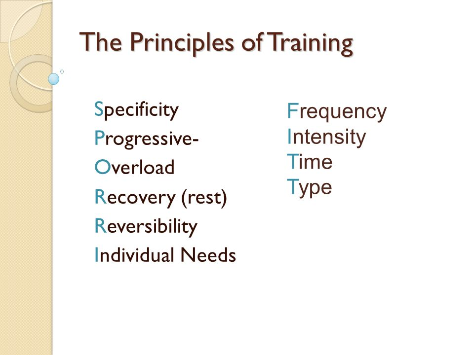 Overload Training Principle Definition The Best Train Of