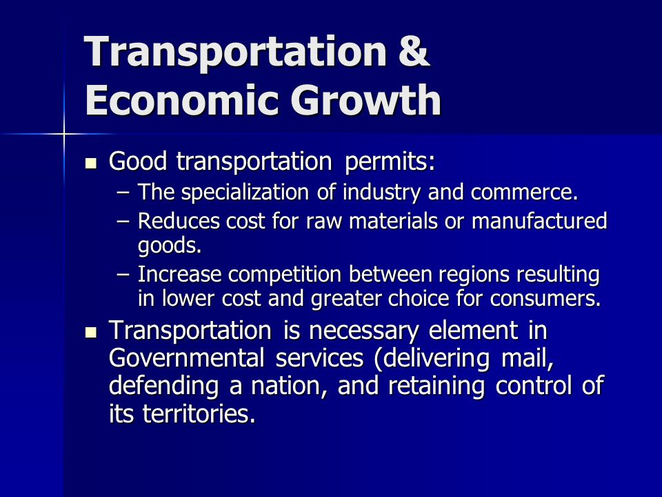 the increased transportation routes will stimulate growth in the economy The economic & social benefits of air transport social and economic effects of increased infrastructure capacity and economic growth.
