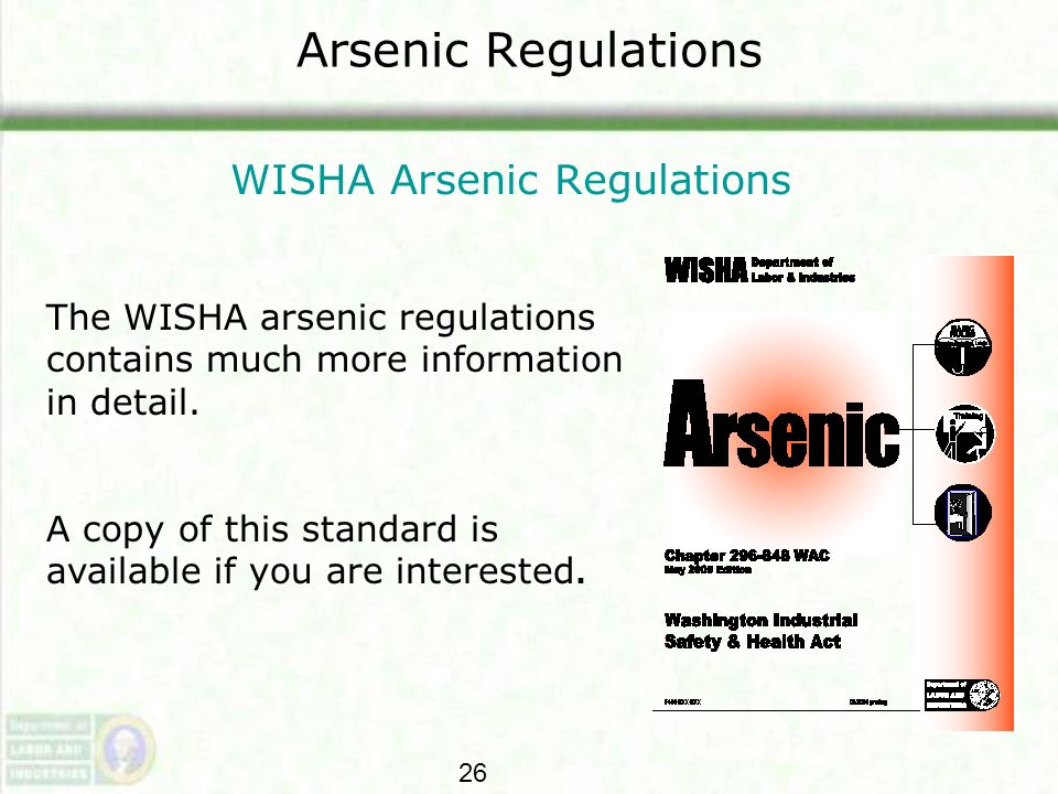WISHA Arsenic Regulations