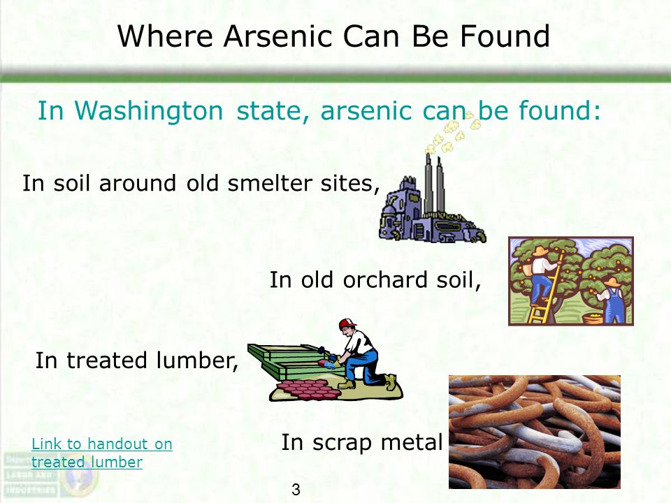 Where Arsenic Can Be Found