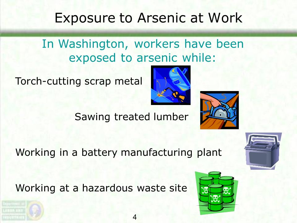 Exposure to Arsenic at Work