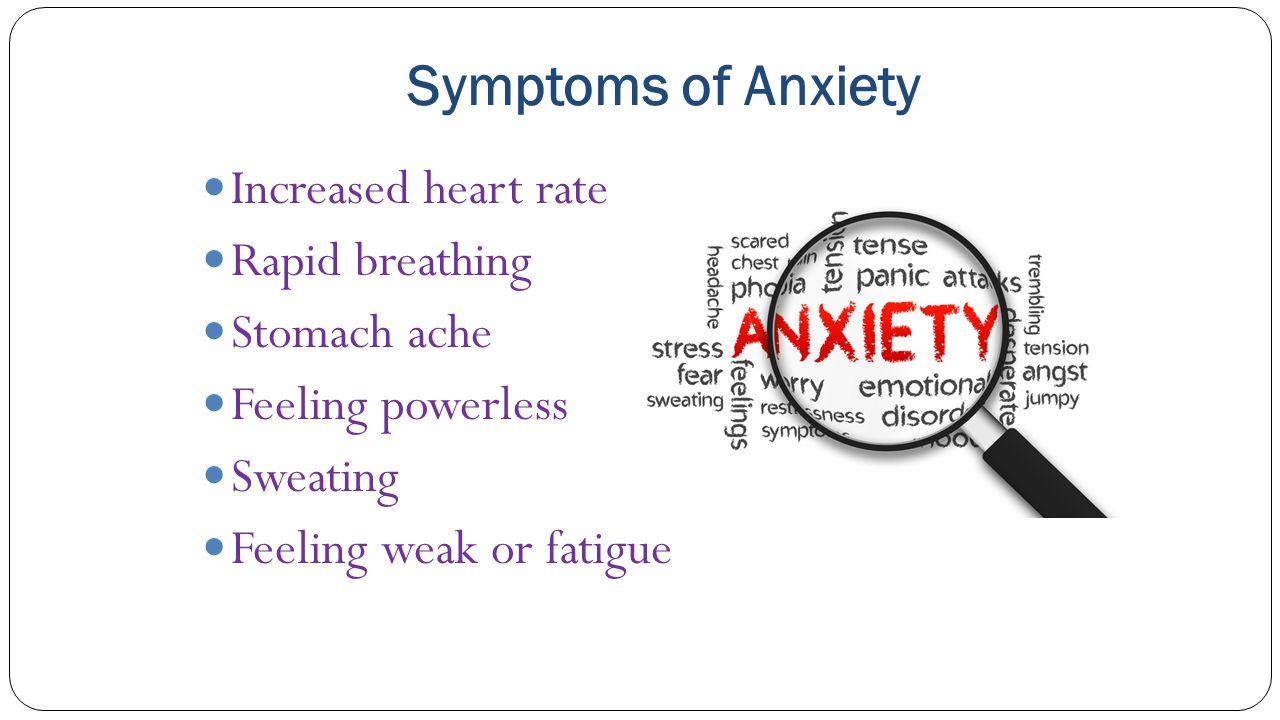 Symptoms of anxiety - 5 Symptoms