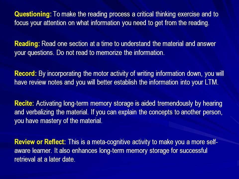 how does information stored in long term memory affect critical thinking C long term memory (ltm) - an unlimited capacity store that can hold information over lengthy periods of time the name is a bit of a misnomer, since information in ltm may stay there over the course of a life-span.