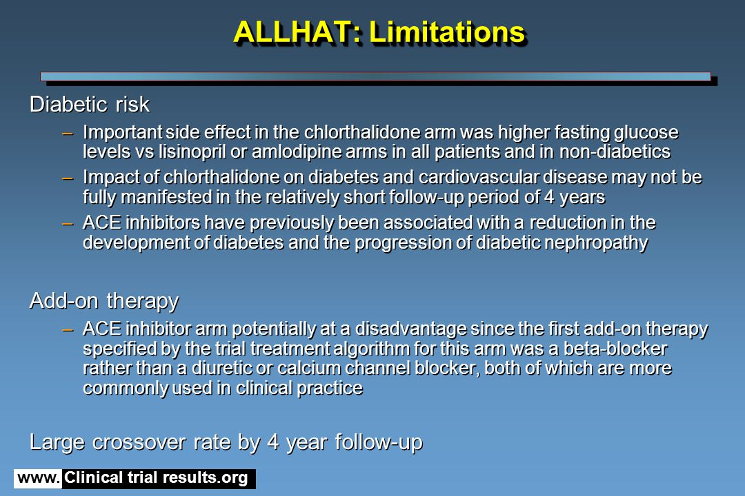 The ALLHAT Study - Clinical Diabetes