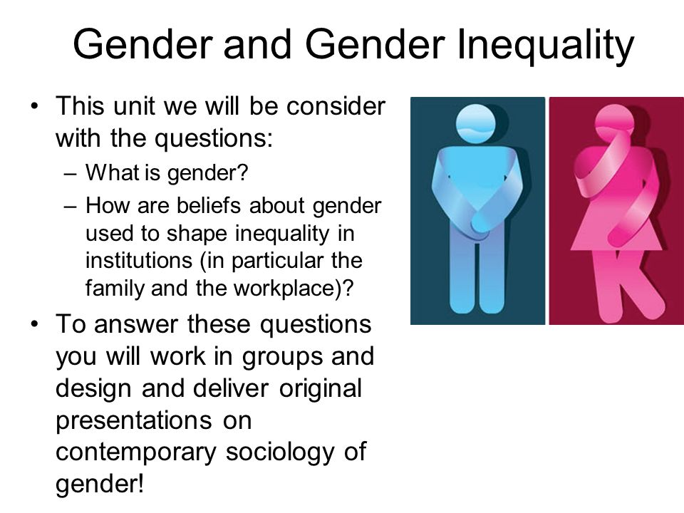 sociology gender inequality essay Gender inequality essay examples gender inequality inequality between genders is a world-wide issue that has been sociology and social inequality assigned.