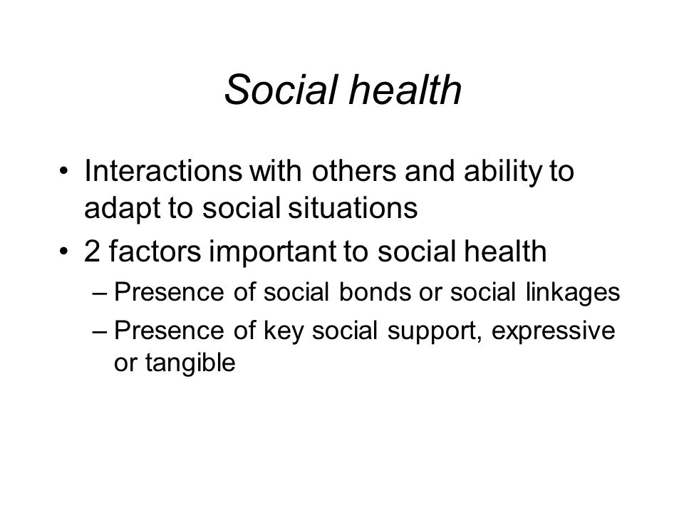 factors and dimensions of health Dimensions and 32 aspects of health the linking rules of cieza et al were used to link these aspects to the icf of the 46 meaningful concepts found, 42 (91,3%) could be coded as body function, activity / participation, environmental factor or personal factor the high percentage of concepts that could be coded as personal.