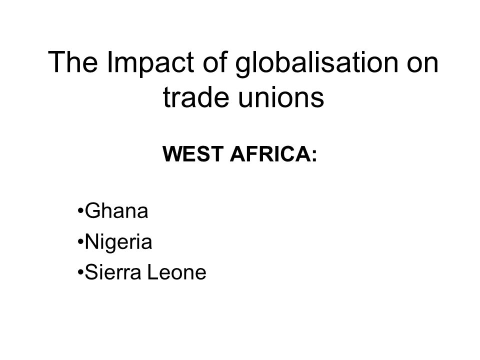 impact of globalisation in africa It is based on this premise that the paper intends to introduce the topic, conceptualizing and contextualizing the concepts of globalization and development, a brief historical origin of globalization, the impact of globalization on the development of african countries and the way out of this present predicament and conclusion.