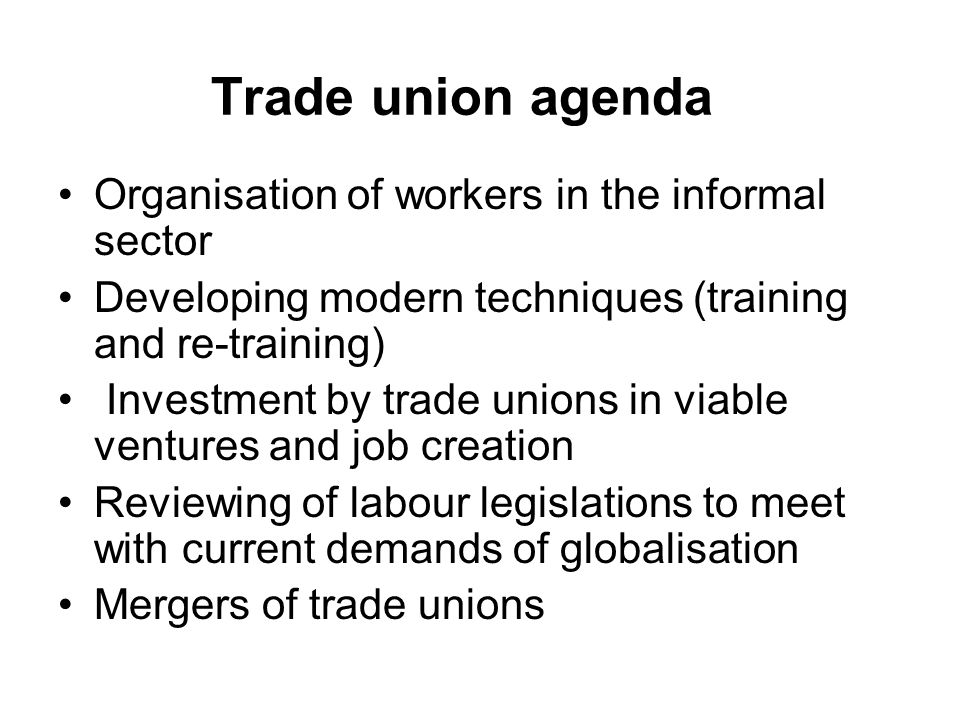 the influence of trade unions There are trade unions,  the power of labor unions rests in their two main tools of influence: restricting labor supply and increasing labor demand.