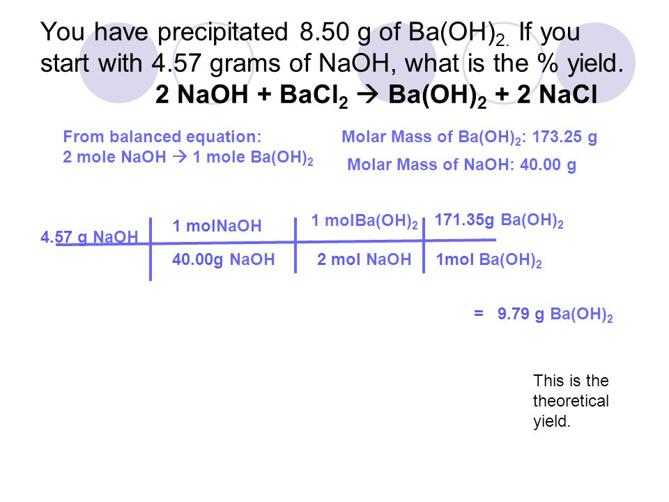 how to find theoretical mass of precipitate