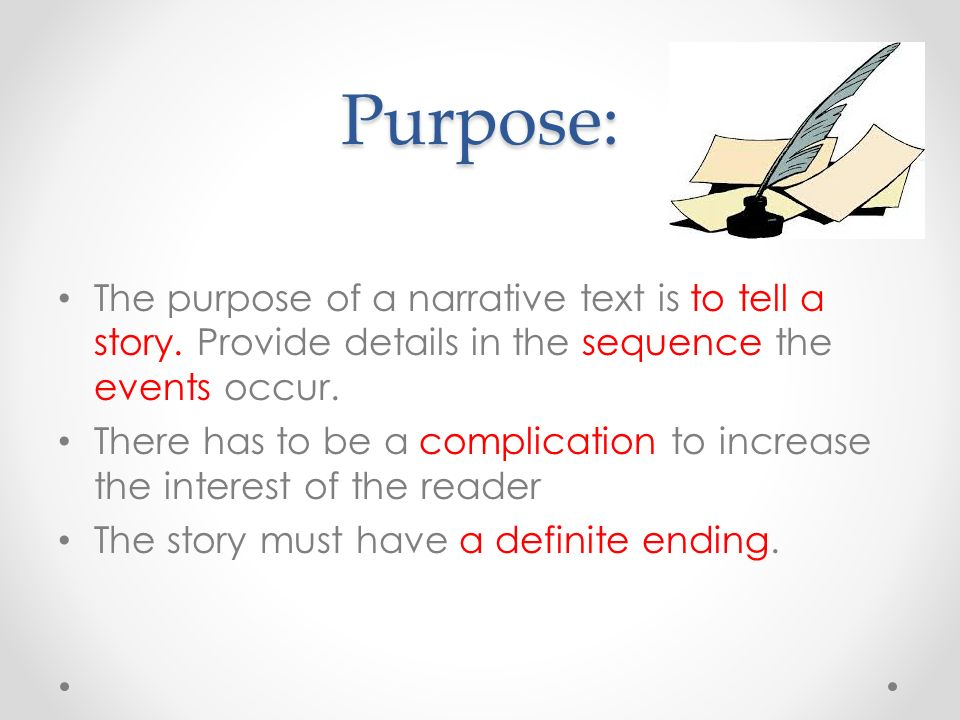 purpose of a narrative essay Writing your personal essay (statement of purpose) the personal essay is your best opportunity to convey a sense of.