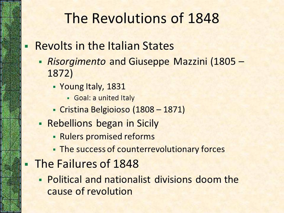 "the failures of the revolution of 1848 This is a transcript of the ""failure of the german revolution 1848‐49 textbook, germany 1848‐1914, that ""the outcome of the events."