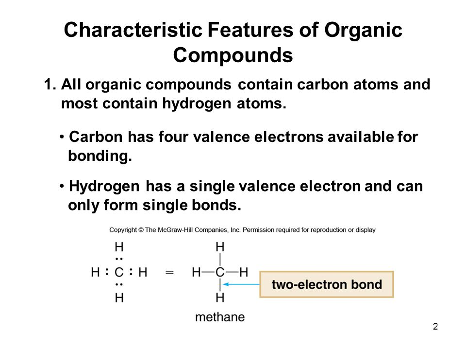 characteristic of organic compounds essay Organic compounds are those who chemical formula contains at least one  carbon atom, and often contain a hydrogen atom as well the bonds formed  between.