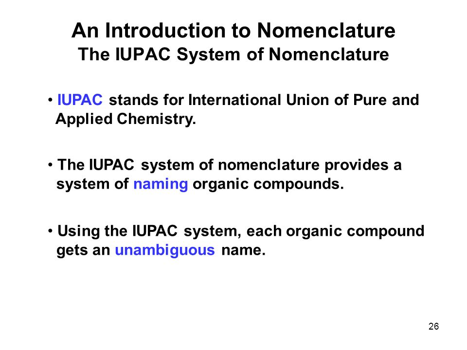 how to write iupac names of organic compounds