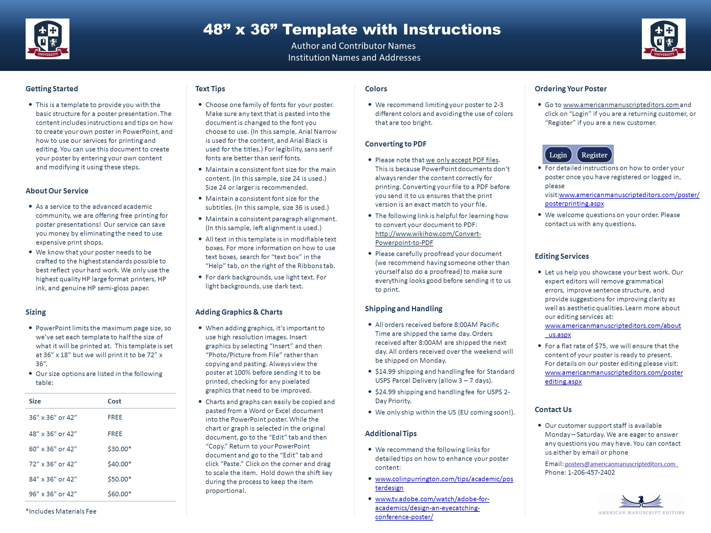"48"" x 36"" template with instructions - ppt download, Presentation templates"