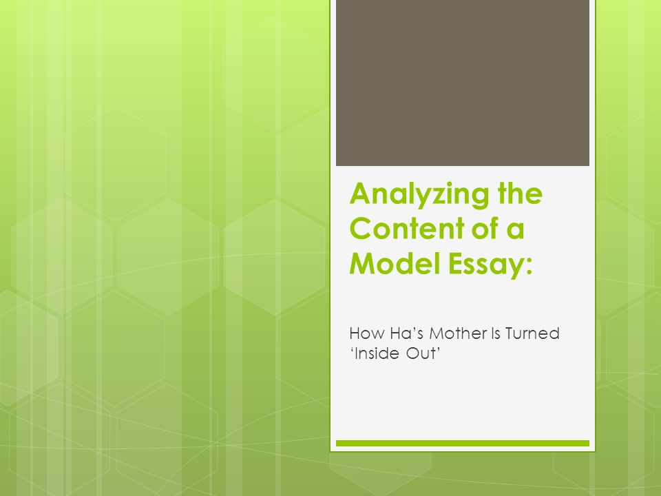 analyzing the content of a model essay ppt video online analyzing the content of a model essay