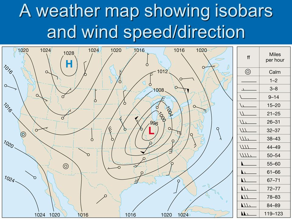 how to draw isobars on a map