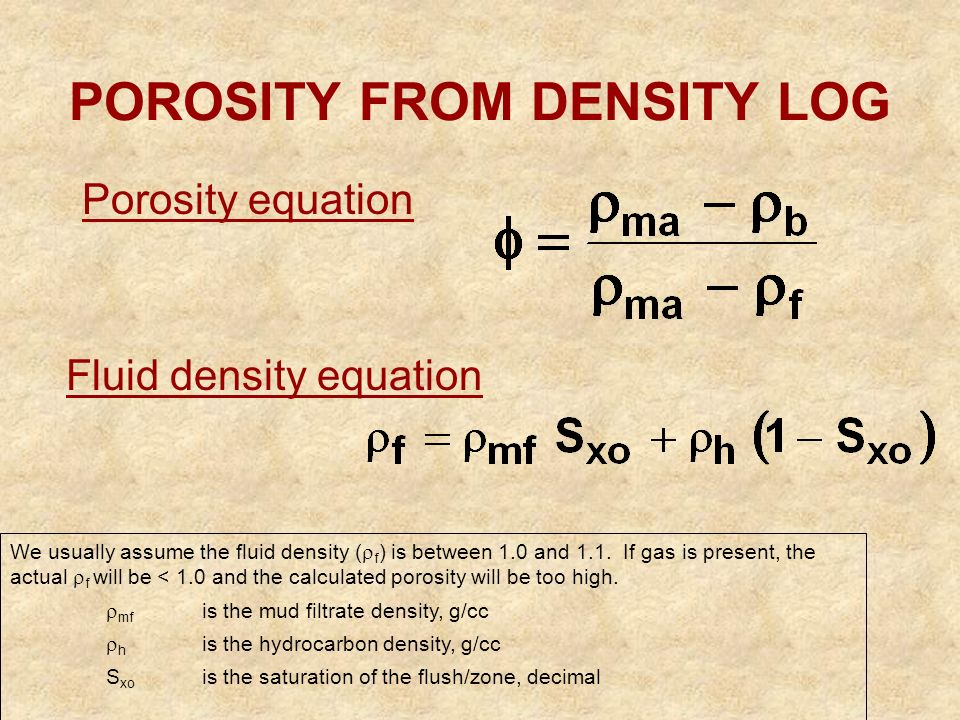 bulk density and porosity relationship