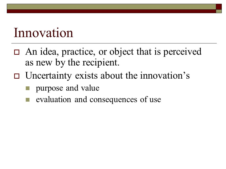 evaluation of the diffusion of innovation theory Adoptions is diffusion of innovation theory (doi) as propagated by rogers   implications of our analysis and sketch a path for a way forward to establish.