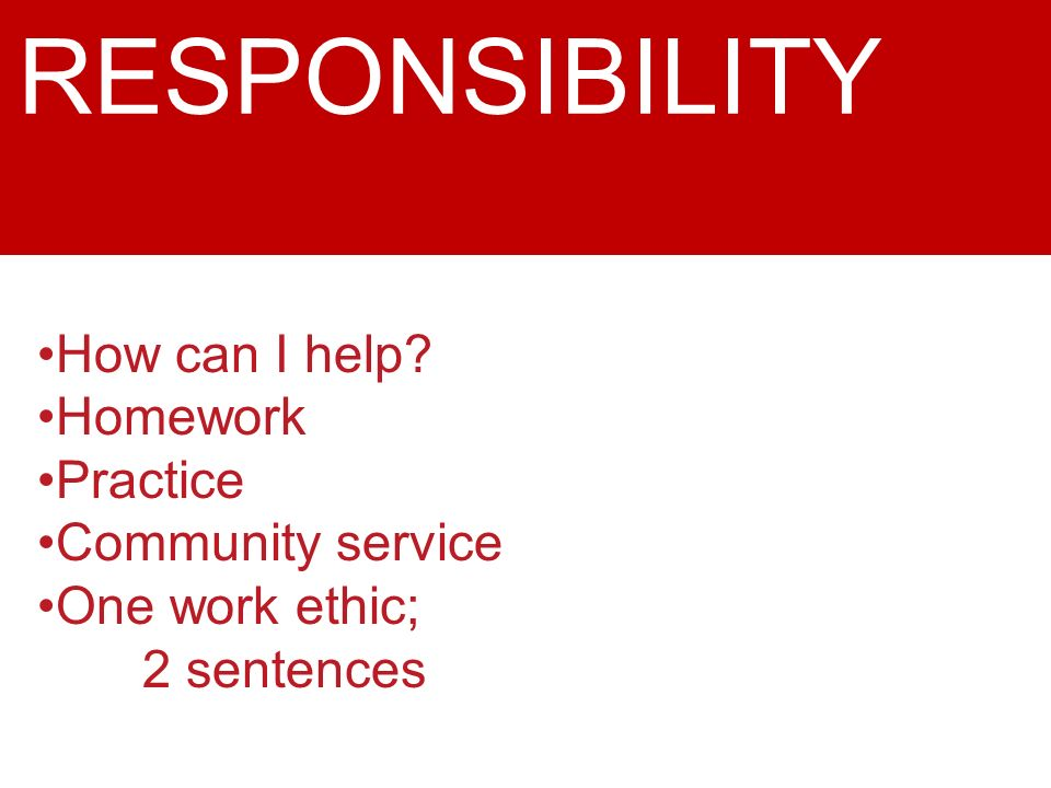how is the theme of responsibility