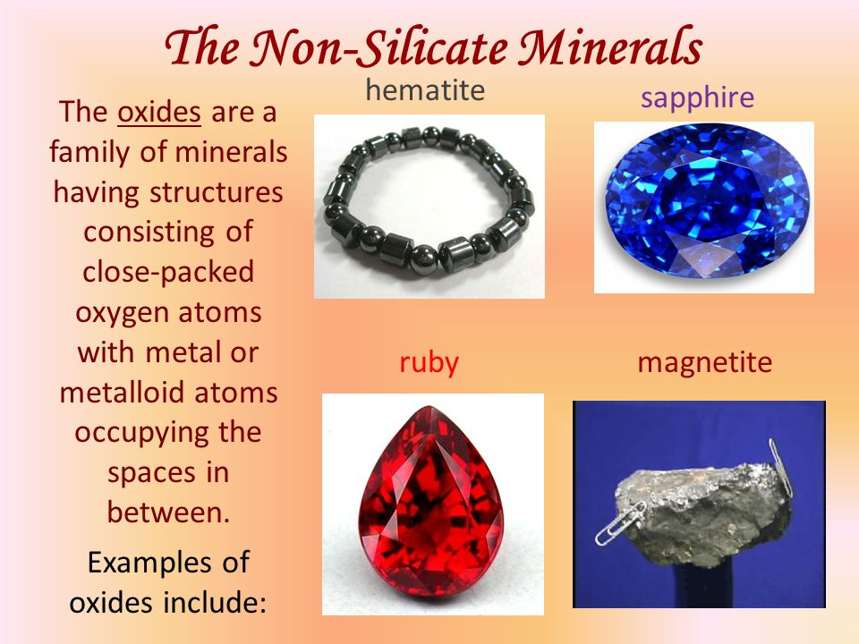 (Non-Silicate Minerals; Mineral Resources)
