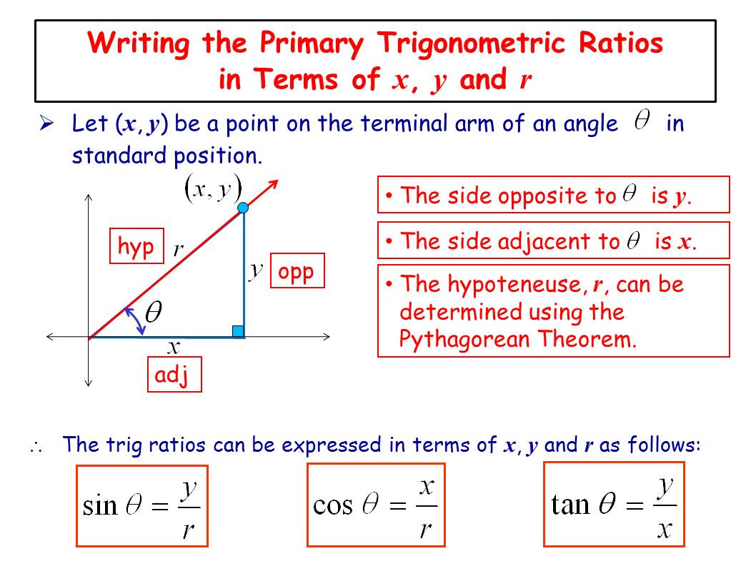 Lesson 3 introducinge cast rule ppt video online download writing the primary trigonometric ratios in terms of x y and r pooptronica Choice Image