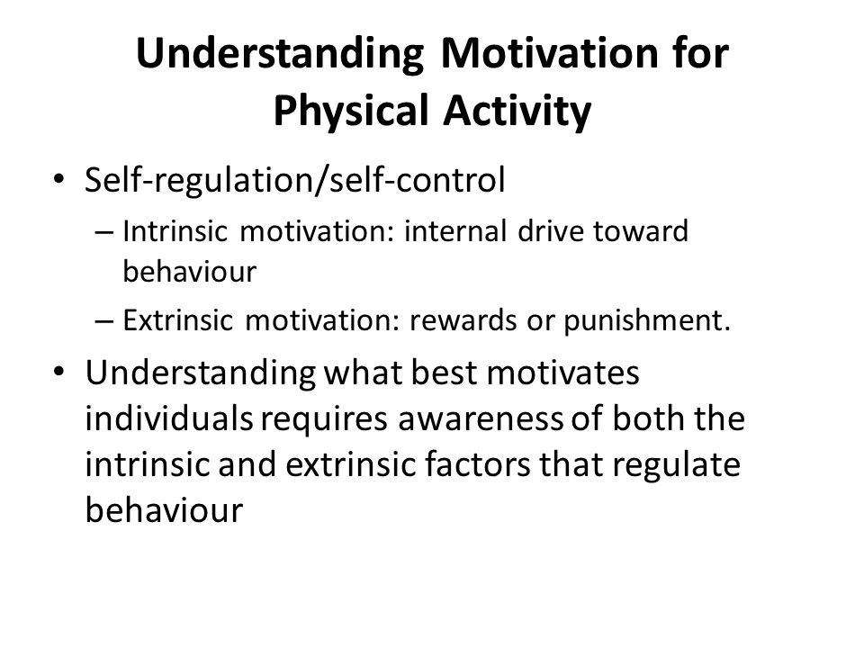 The importance of motivation in doing physical activities