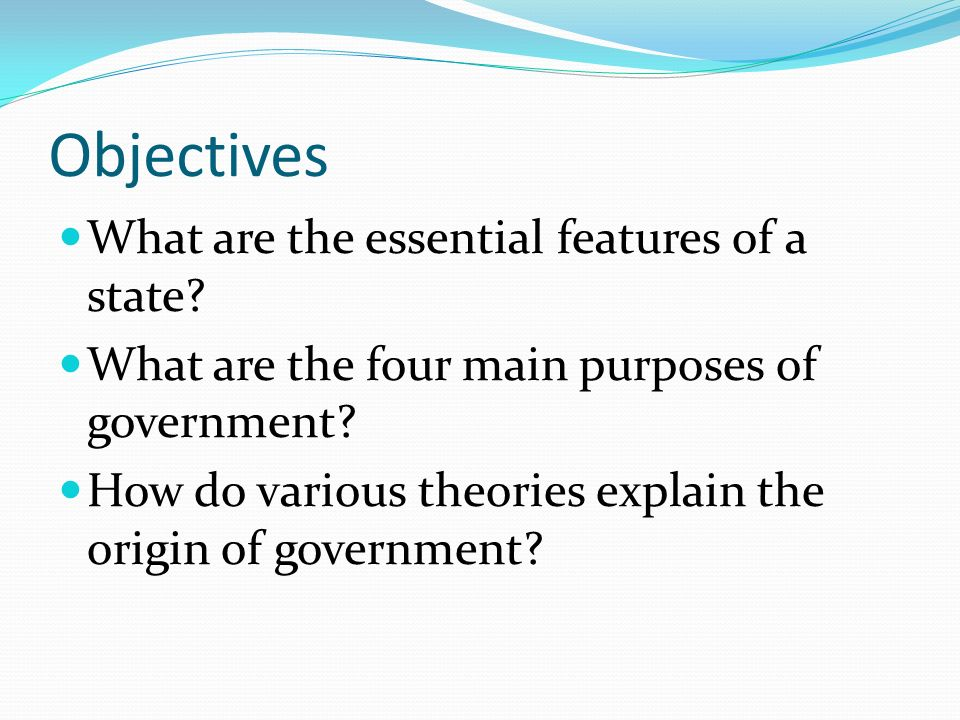 the four theories of government The role of local government is viewed in the context of the overall role of government per se a particular advantage of local government lies in its ability t.