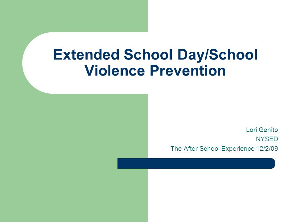 extended school day 2 essay From president obama to arlene ackerman, the the call for a longer school day has been raised as a component of school reform it's an issue in contract negotiations here and across the country.