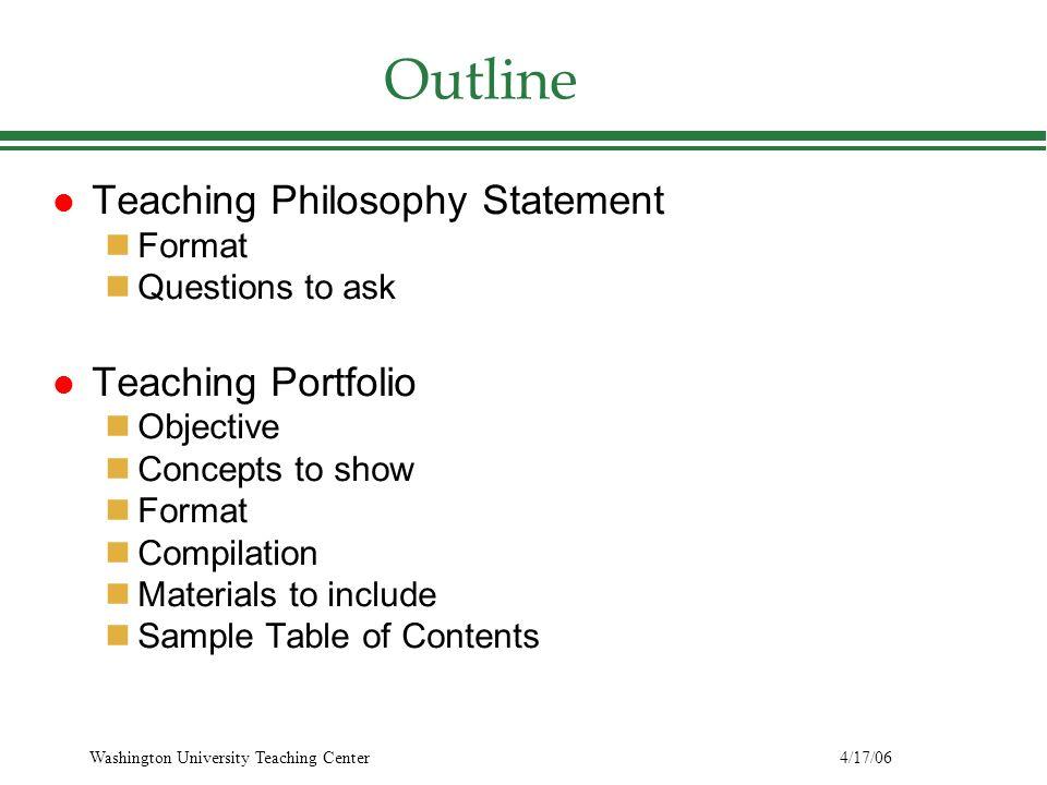 how to write a portfolio statement