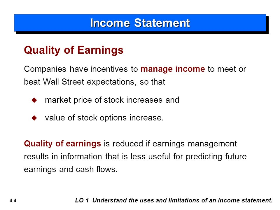 earnings management to meet or beat earnings thresholds Start studying mintz chpt 7 hw  link earnings management to choices made in determining earnings that may comprise aggressive, but acceptable, accounting .
