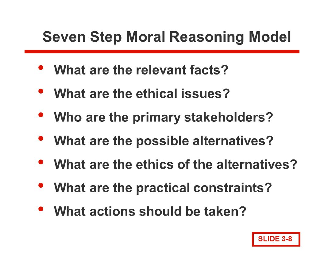 moral reasoning The view that moral cognition is subserved by a two-tieredarchitecture is defended: moral reasoning is the result both ofspecialized, informationally encapsulated modules which automaticallyand effortlessly generate intuitions and of general-purpose,cognitively penetrable mechanisms which enable moral judgment in thelight of the agent's.