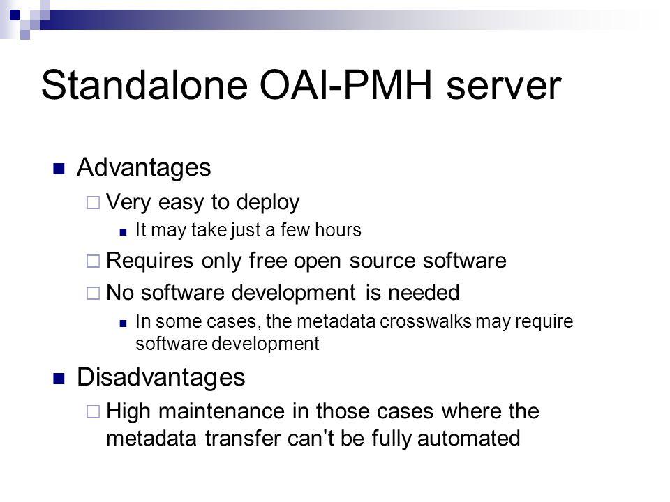 Standalone OAI-PMH server