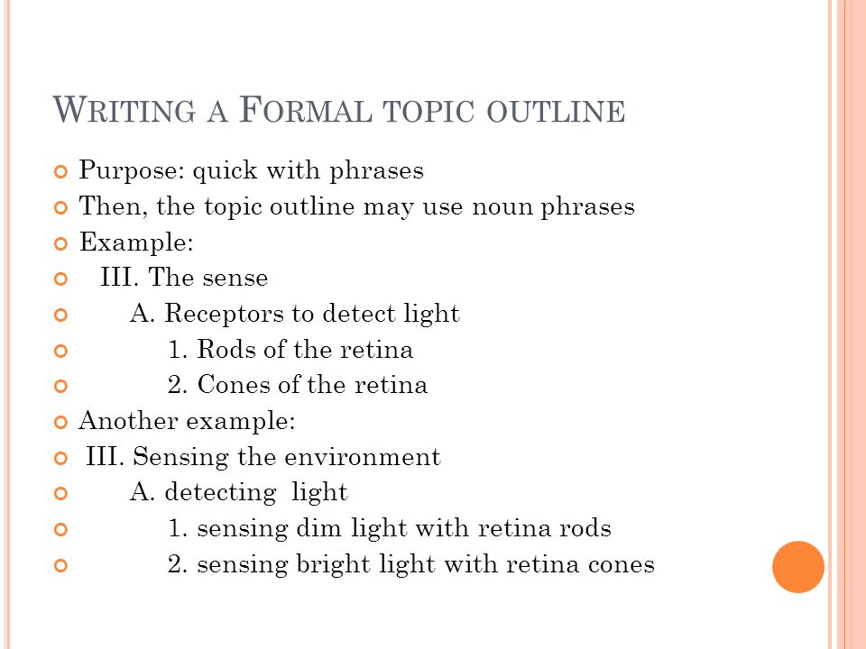 How to Write My Informal Outline With a Thesis