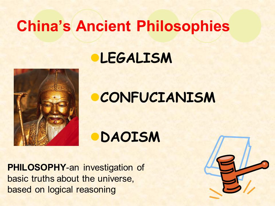 a comparison of chinese confucianism daoism and legalism China: confucianism and philosophical daoismall, a renewed interest in daoism and its earliest philosophers, laozi and zhuangzi in general.