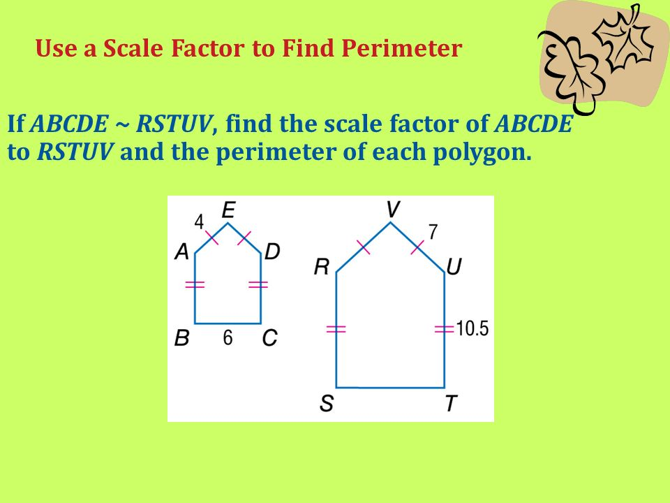 Unit 5 similarity and dilations lesson one proportion and use a scale factor to find perimeter ccuart Images
