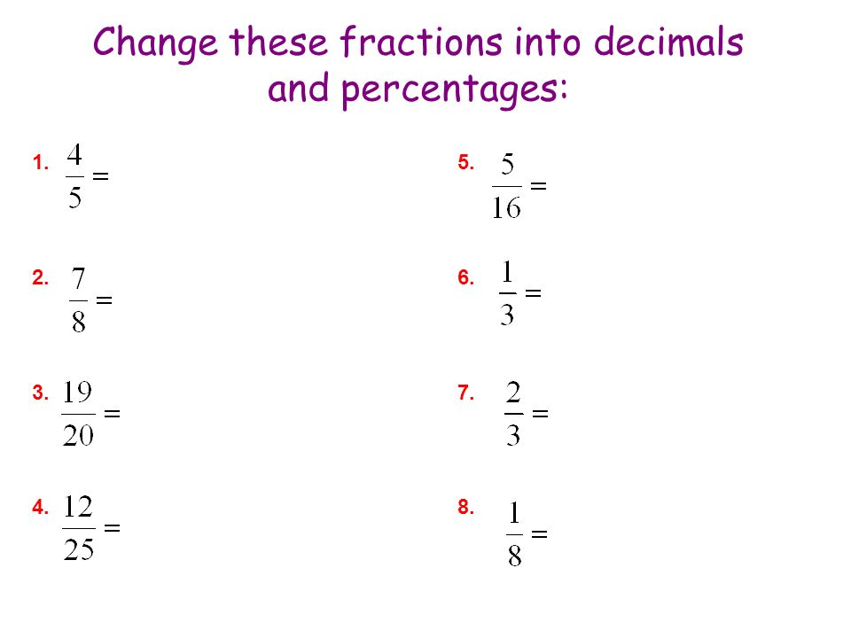 Part Two: Introducing Percentages and Decimals - ppt video online ...
