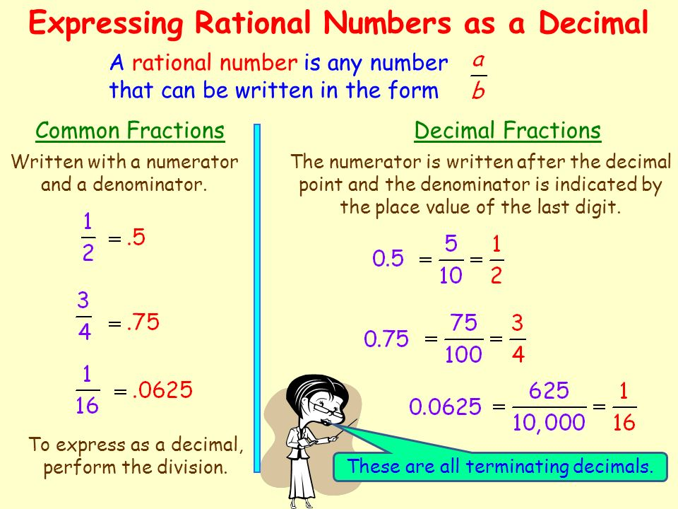Expressing Rational Numbers as a Decimal