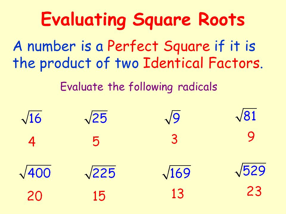 how to tell if its a perfect square