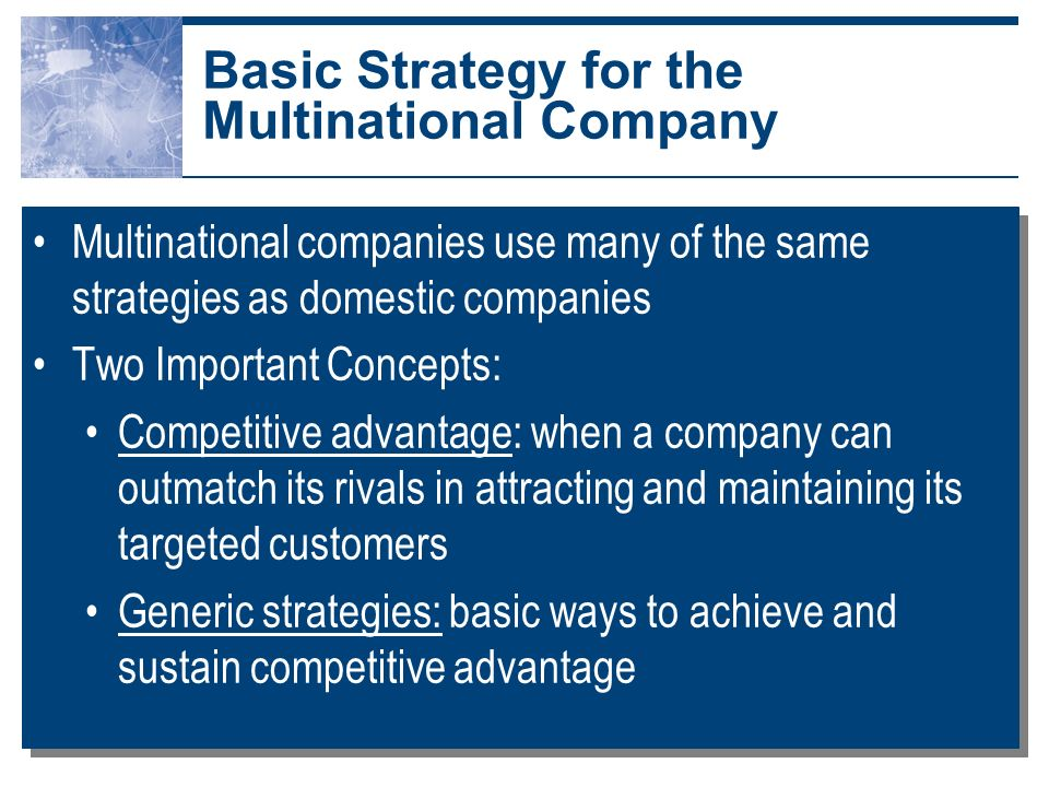 multinational corporation and value chain A value chain is a set of activities that a firm cross border / cross region value chains often multinational where the subject company is.