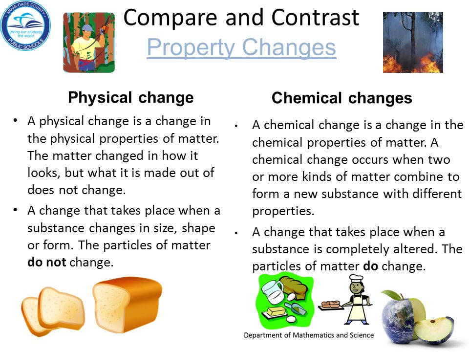 Contrast Physical And Chemical Properties