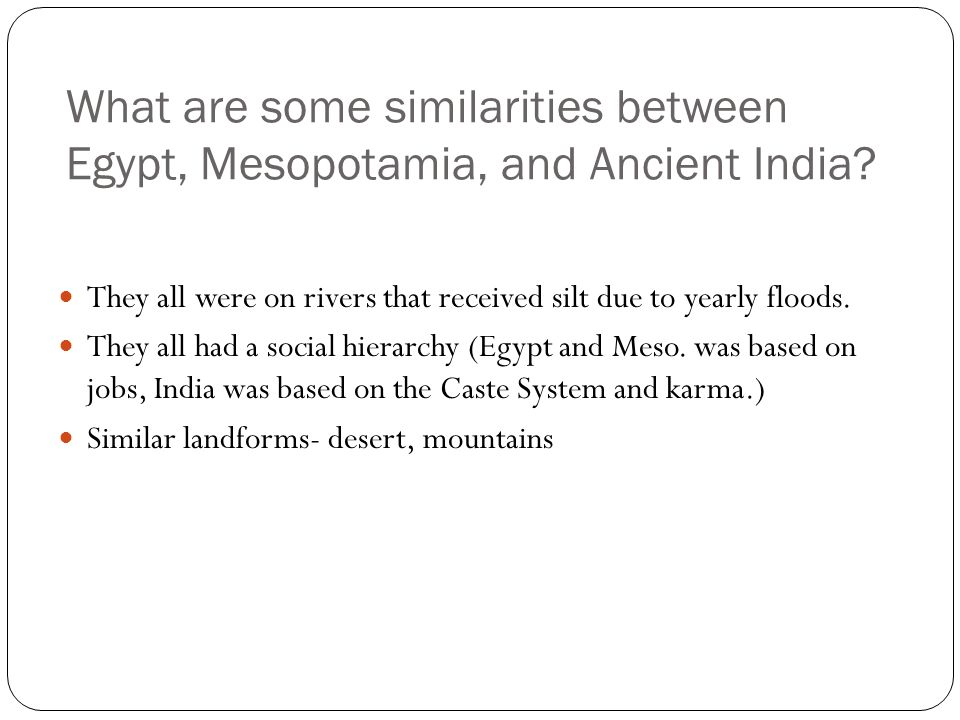 Difference between ancient Egypt and Sumer civilizations