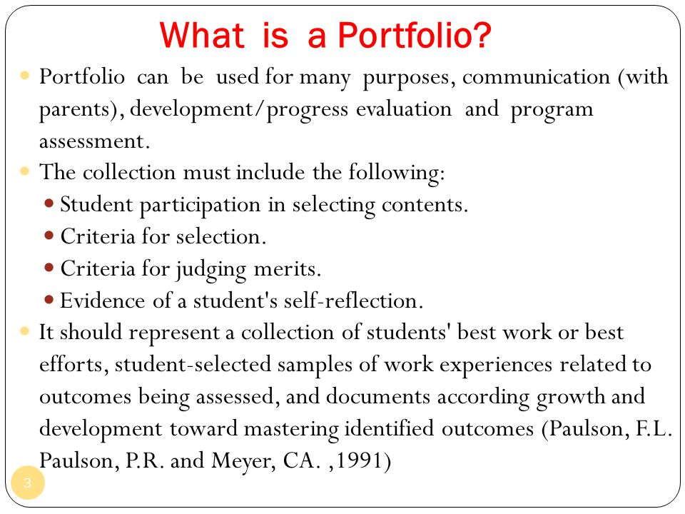 Topic 7 portfolio assessment ppt video online download what is a portfolio altavistaventures Images