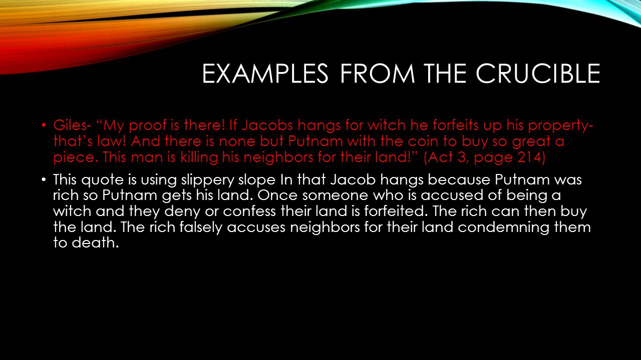 the crucible act 3 essay Confused about the witch trials or john proctor's arrest our the crucible act 3 summary for details on what happens, important quotes, and what it all means.