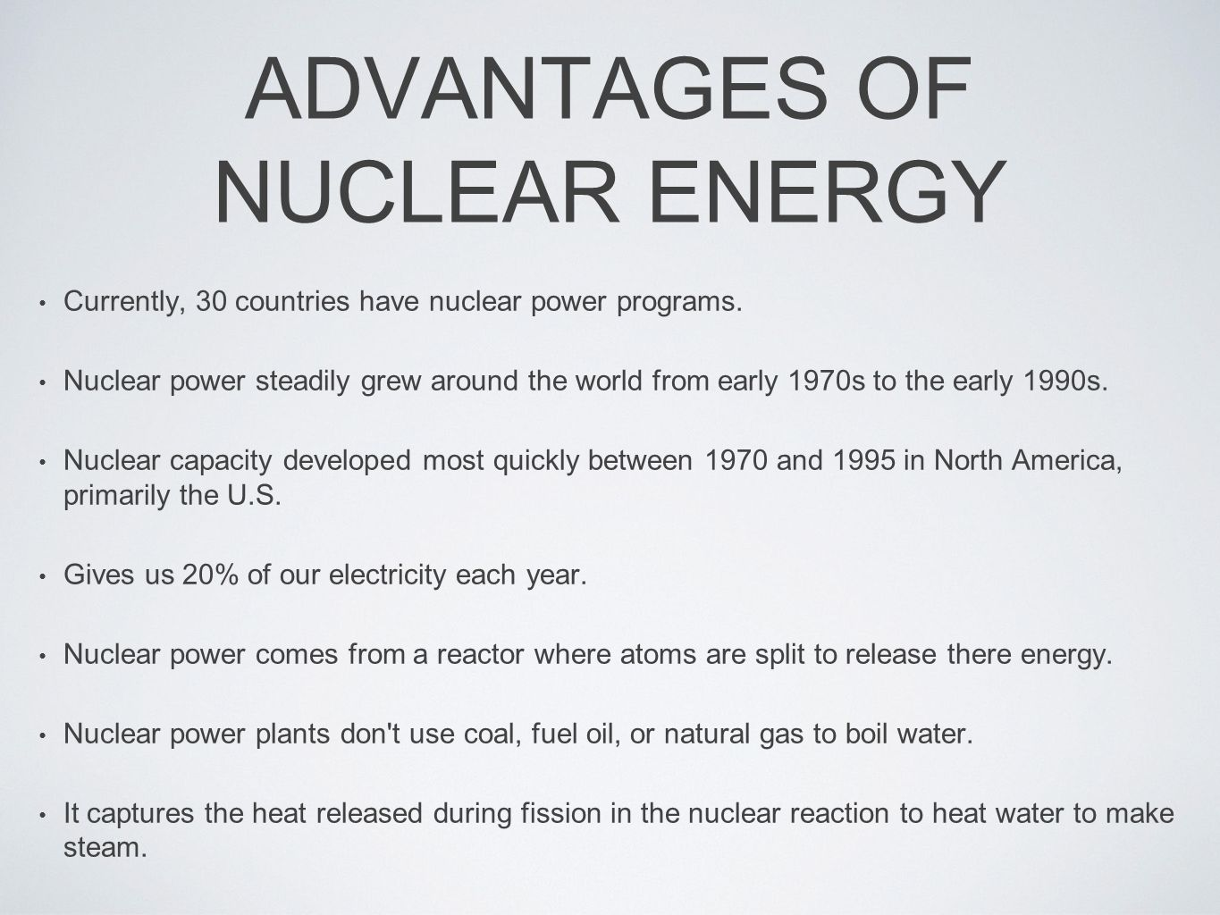 advantages and additionally problems associated with nuclear ability plant