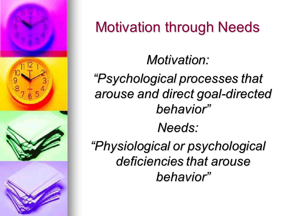 psychological motivation